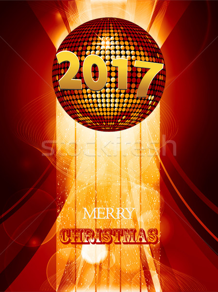Noel disko topu altın tarih metin Stok fotoğraf © elaine