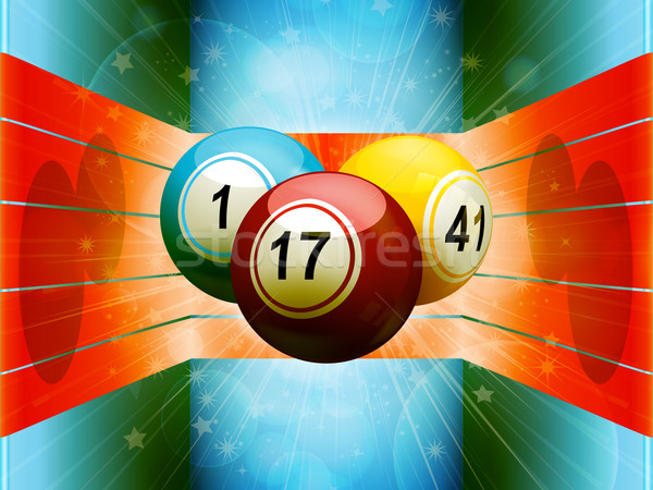 Bingo coloré 3D environnement Photo stock © elaine