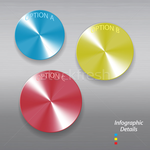 Infographic brushed metallic buttons Stock photo © elaine