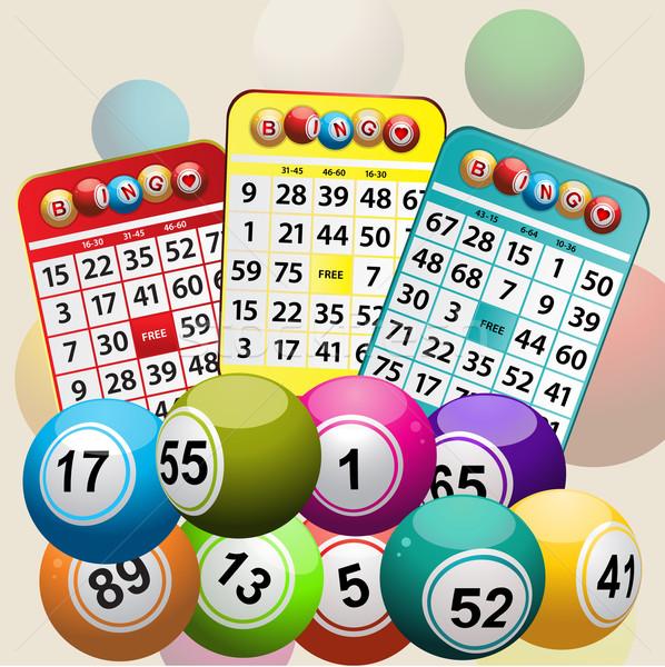 Três bingo cartões conjunto Foto stock © elaine