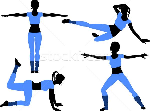 aerobics silhouettes2 Stock photo © elaine