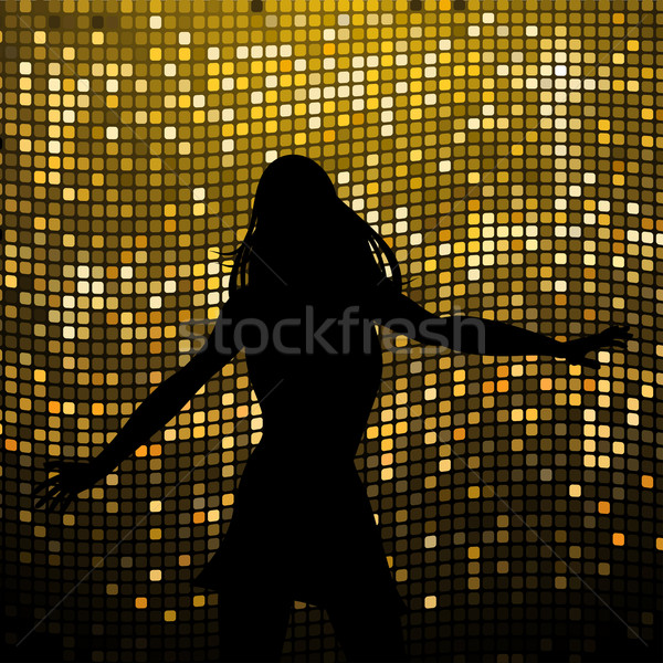 female silhouette dancer on mosaic background Stock photo © elaine