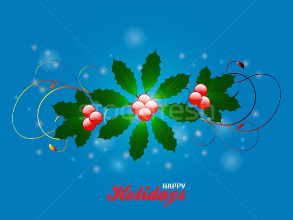 Feliz férias florescer azul elegante Foto stock © elaine