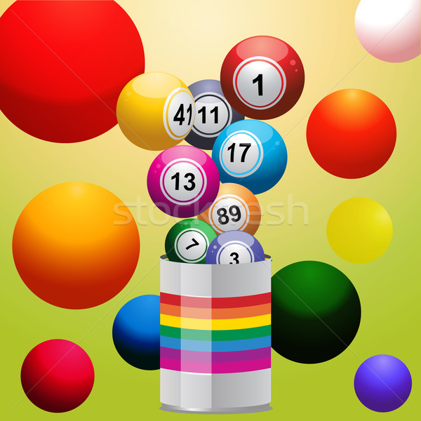 Bingo balls from paint tin Stock photo © elaine