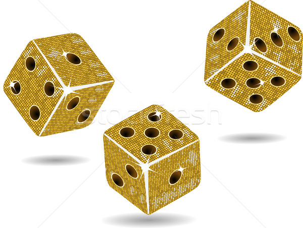gold mosaic dice and shadows2 Stock photo © elaine
