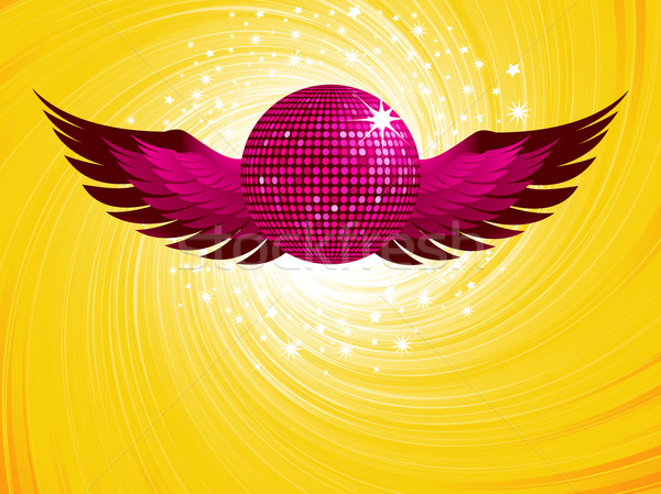 abstract pink disco ball and wings Stock photo © elaine