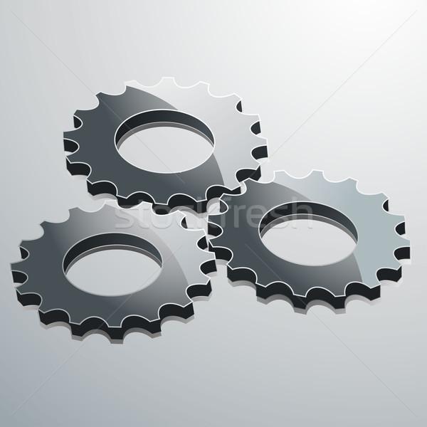3D trois métallique fond industrielle Photo stock © elaine