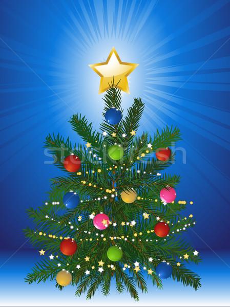 Decorated Christmas tree Stock photo © elaine