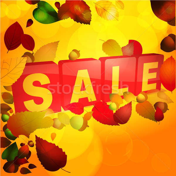 Autumn sale tabs background Stock photo © elaine