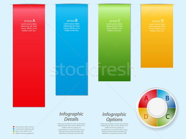 Luz azul opções botão texto negócio Foto stock © elaine