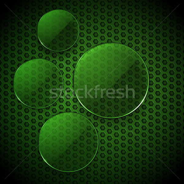Green glass circles info graphic blank Stock photo © elaine