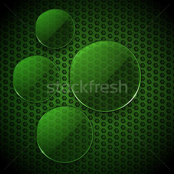Vert verre 3d illustration en nid d'abeille Photo stock © elaine