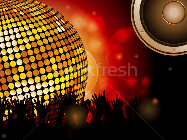Disco ball and crowd with speaker  Stock photo © elaine