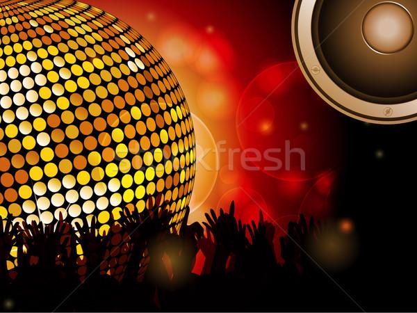 Disco ball tłum Język muzyki Zdjęcia stock © elaine