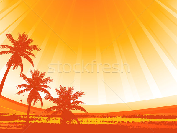 abstract palm trees Stock photo © elaine
