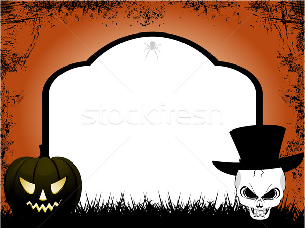 Halloween tombstone copy space Stock photo © elaine
