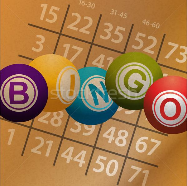 Bingo nummers kaart pakpapier Stockfoto © elaine