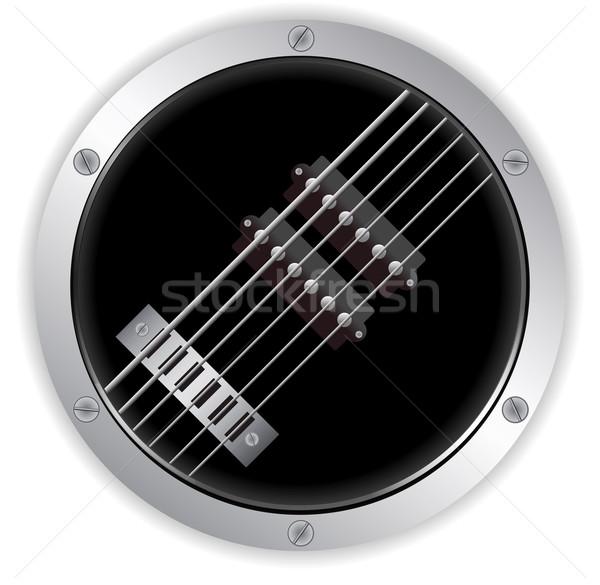 Air guitare métallique frontière circulaire Photo stock © elaine