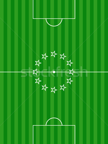 Soccer football pitch and stars background Stock photo © elaine