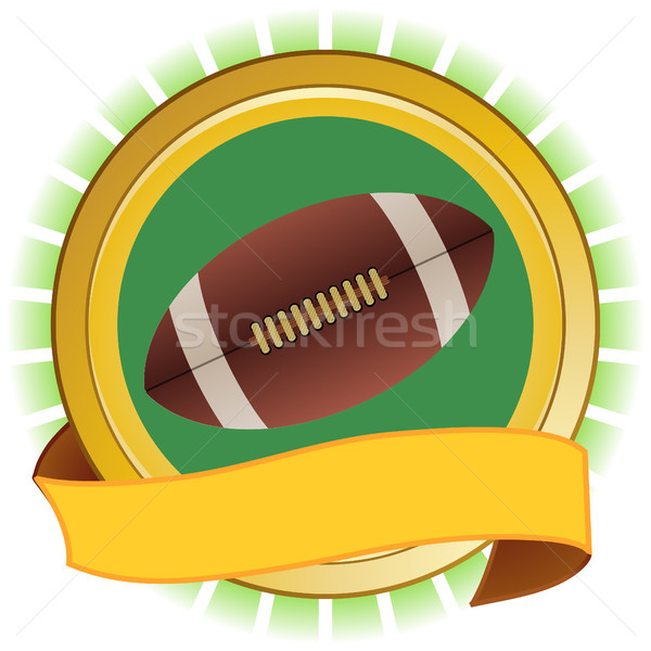 Rugby American football round shield and banner Stock photo © elaine