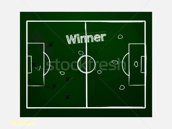 Voetbal voetbal Blackboard hand tekening stijl Stockfoto © elaine