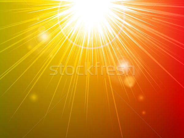 Estrellas luz rojo naranja verde Foto stock © elaine