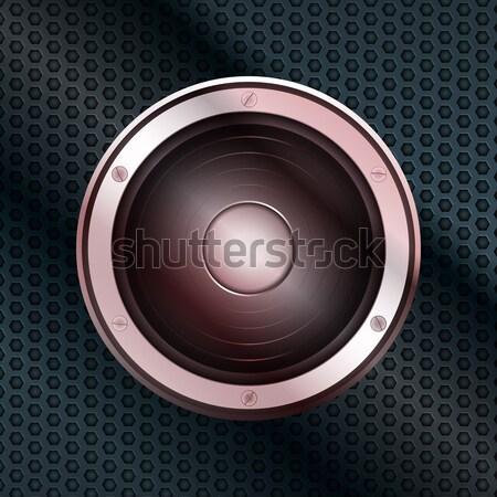 Głośnik plaster miodu metal tablicy metaliczny Zdjęcia stock © elaine