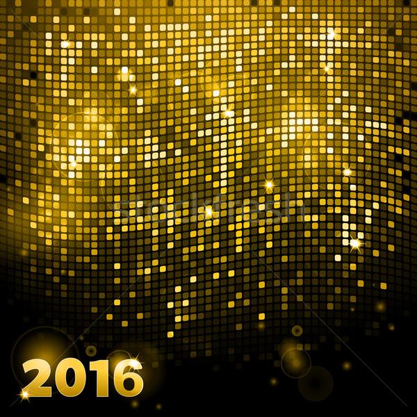 Sparkling gold mosaic 2016 Stock photo © elaine