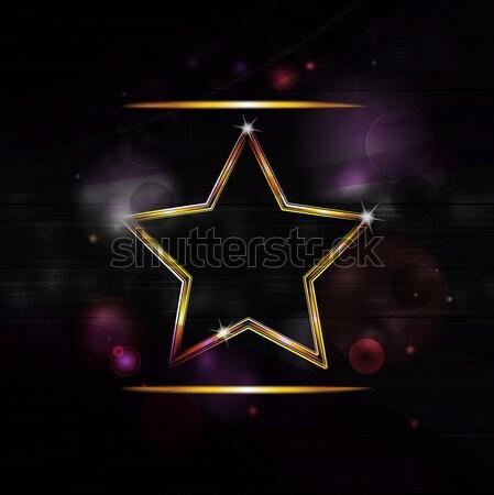 Disco star verdubbelen Rood Stockfoto © elaine