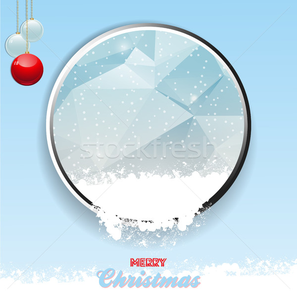 Merry Christmas border with ice and snow Stock photo © elaine