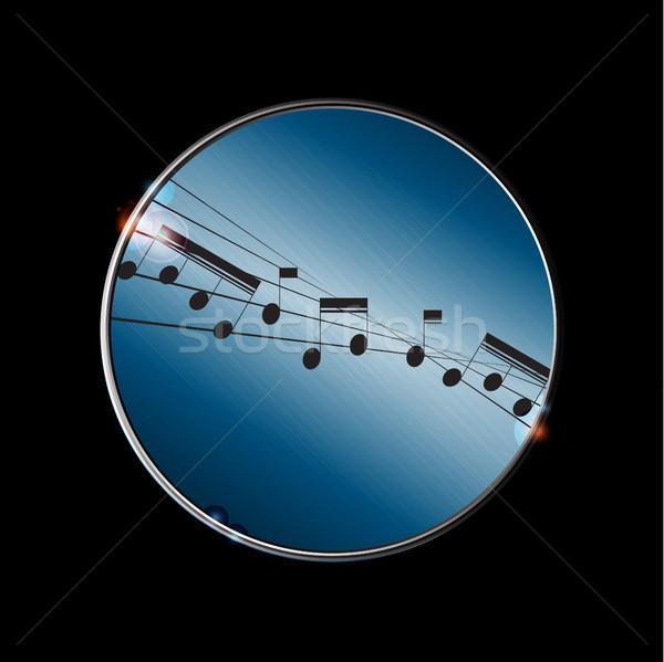 Vervormd muziek merkt grens metalen zwarte Stockfoto © elaine