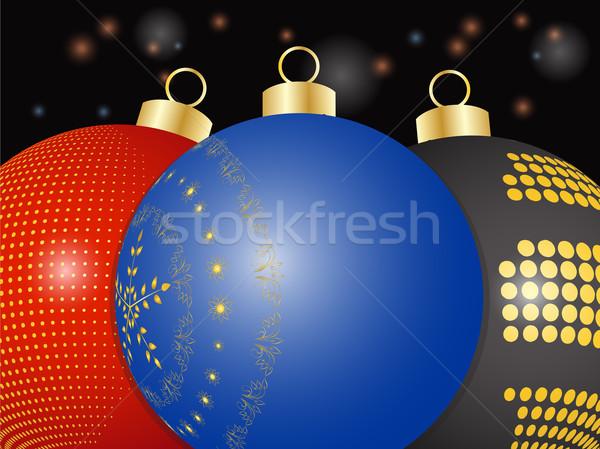Natal 3D preto vermelho Foto stock © elaine
