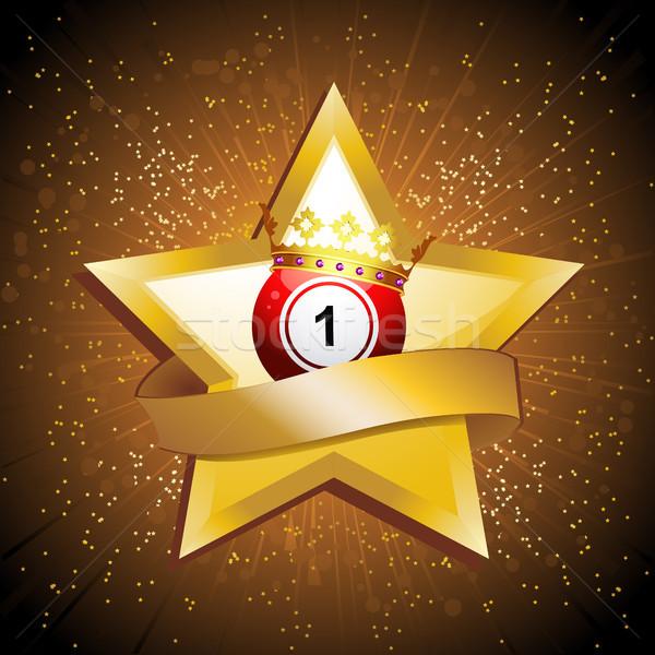 бинго мяча корона золото звездой баннер Сток-фото © elaine