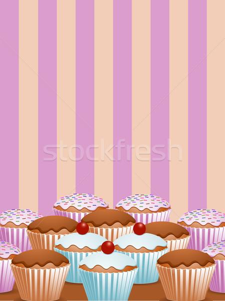 Yummy cupcakes Stock photo © elaine