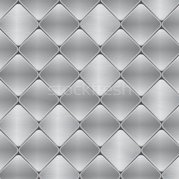 brushed metal mosaic tile background Stock photo © elaine