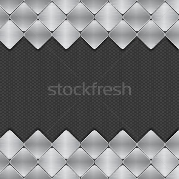 brushed metal mosaics on texture background Stock photo © elaine