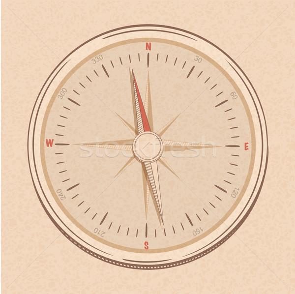 Lijn stijl kompas Rood room Stockfoto © elaine