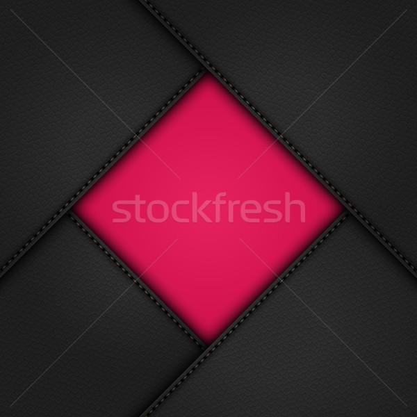 Czarny skóry około różowy granicy Zdjęcia stock © elaine