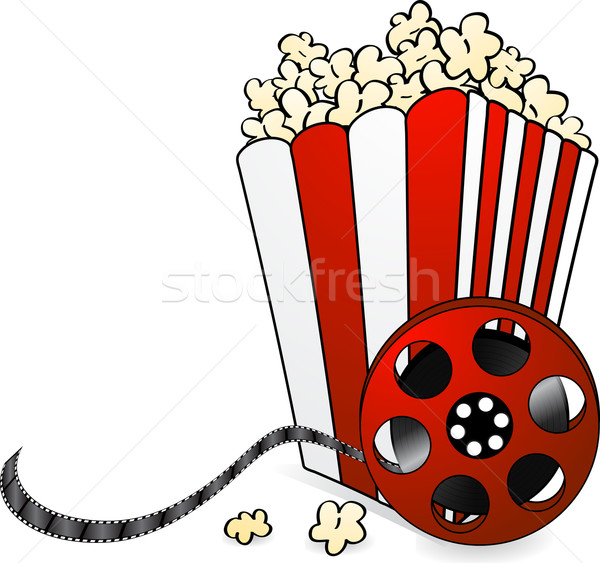 Popcorn bobine de film cartoon style bonbons cinéma Photo stock © elaine