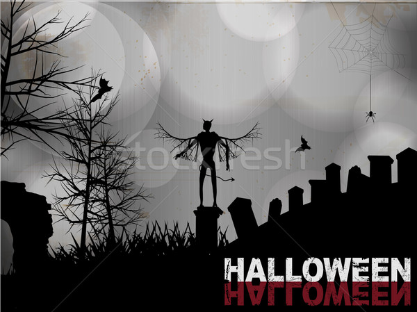 Halloween black and white background Stock photo © elaine