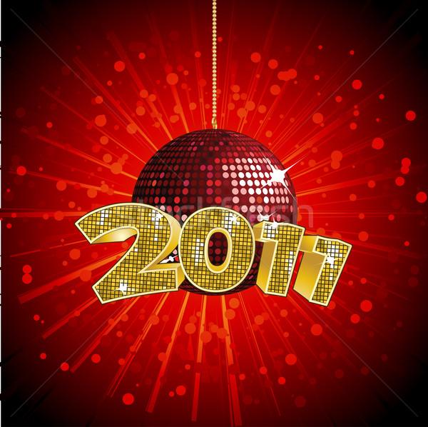 2011 discoteca disco ball specchio palla rosso Foto d'archivio © elaine