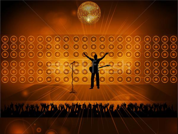 rockstar on stage Stock photo © elaine