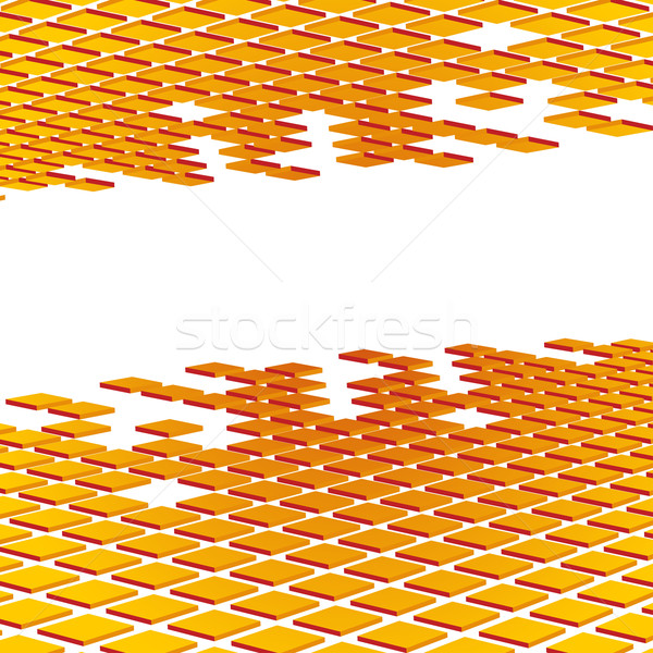 Сток-фото: аннотация · оранжевый · мозаика · фон · шаблон