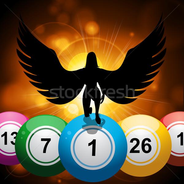 Bingo gelukkig engel star Stockfoto © elaine