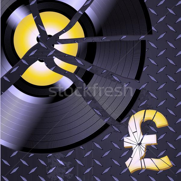 Podziale rekord funt metaliczny diament tablicy Zdjęcia stock © elaine