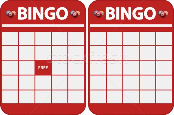 бинго карт два различный красный Сток-фото © elaine