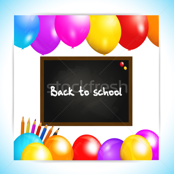 Back to school balloons panel background Stock photo © elaine