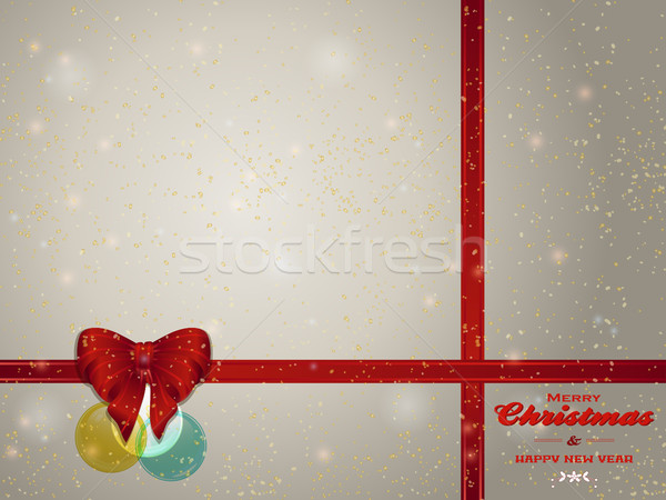 Christmas background copy space with bunting bow and baubles Stock photo © elaine