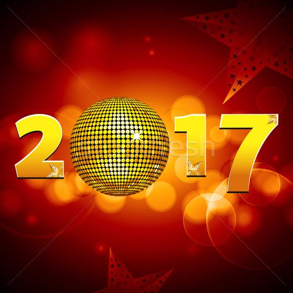 Vingt dix-sept boule disco nouvelle année Photo stock © elaine