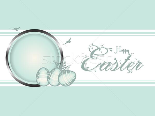 Paaseieren pastel groene grens Pasen eieren Stockfoto © elaine